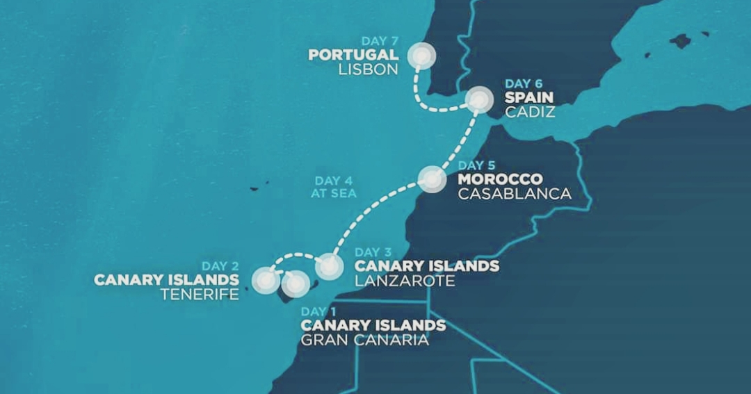 Nomad Cruise route