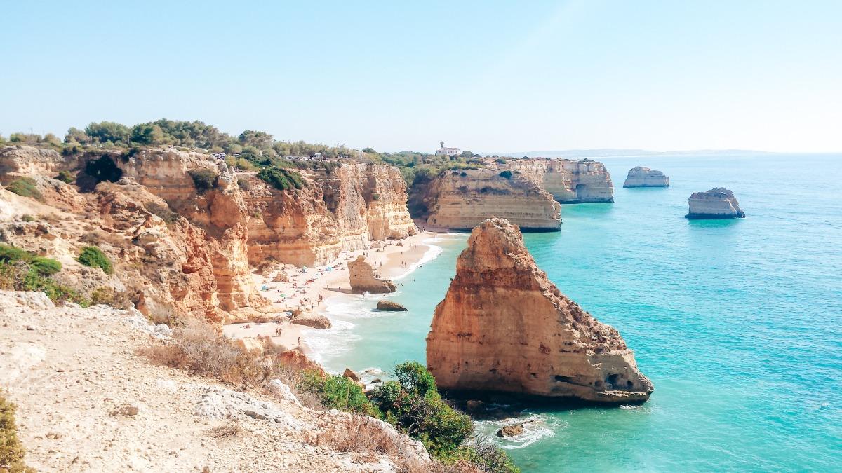 mooiste plekken Algarve Praia Da Marinha