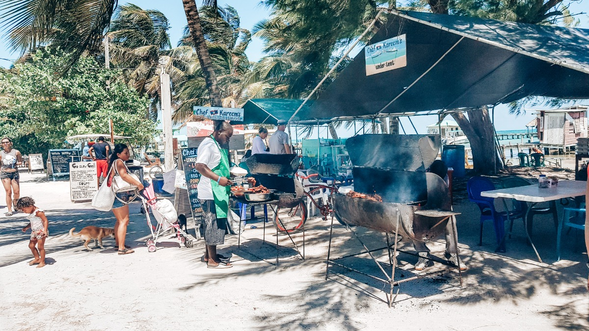 Caye Caulker Belize streetfood