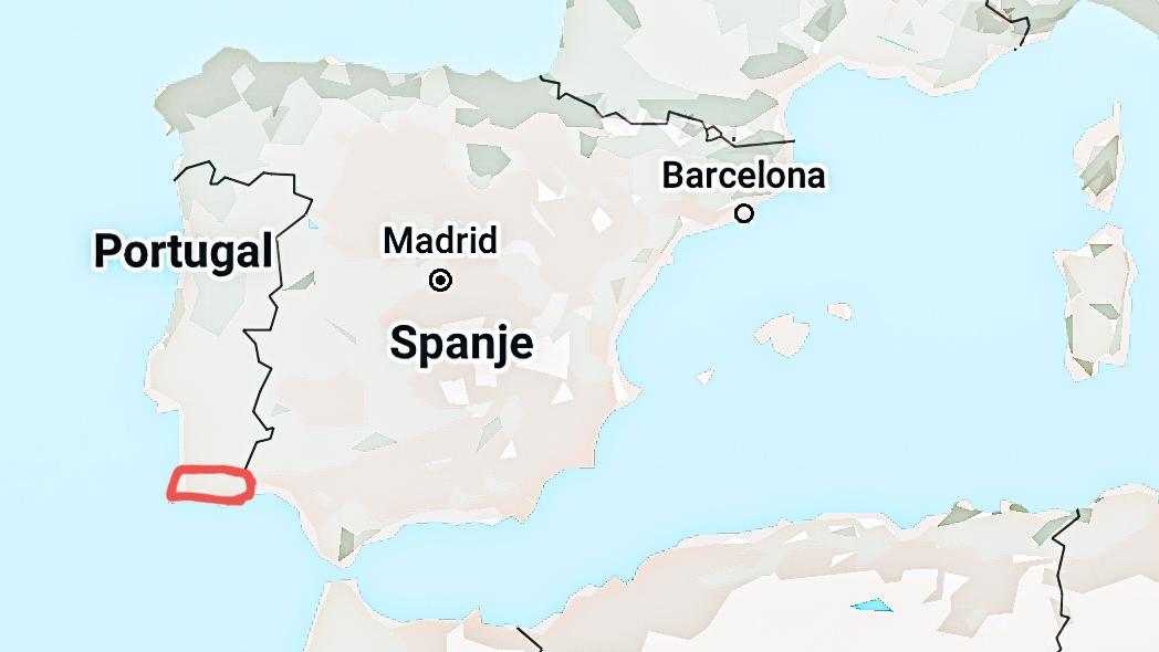 Kaart Algarve Portugal