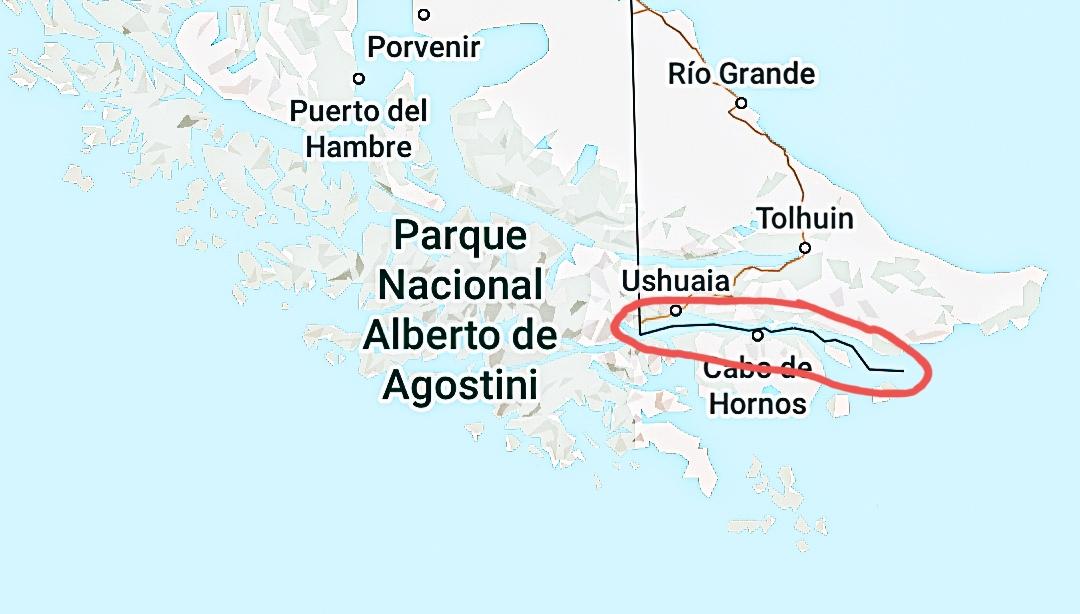 Beaglekanaal kaart