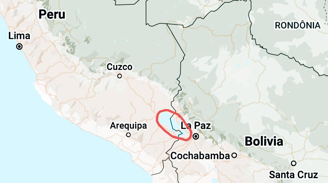 Plattegrond Titicacameer