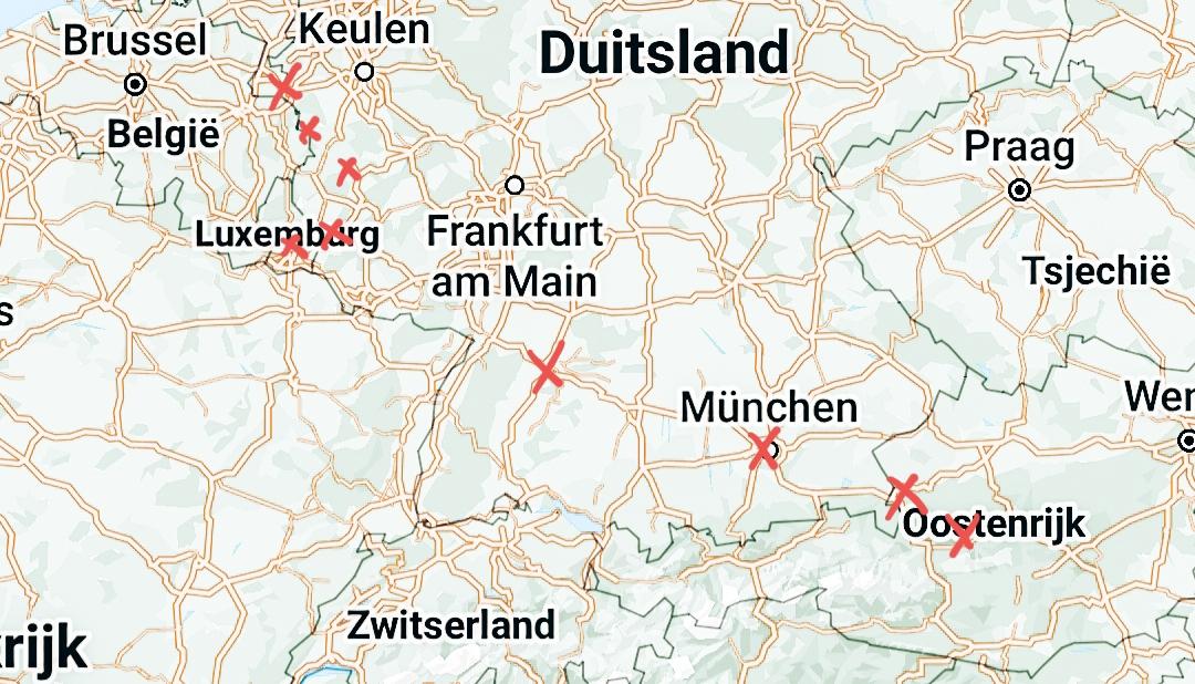 Route roadtrip Duitsland, Luxemburg en Oostenrijk