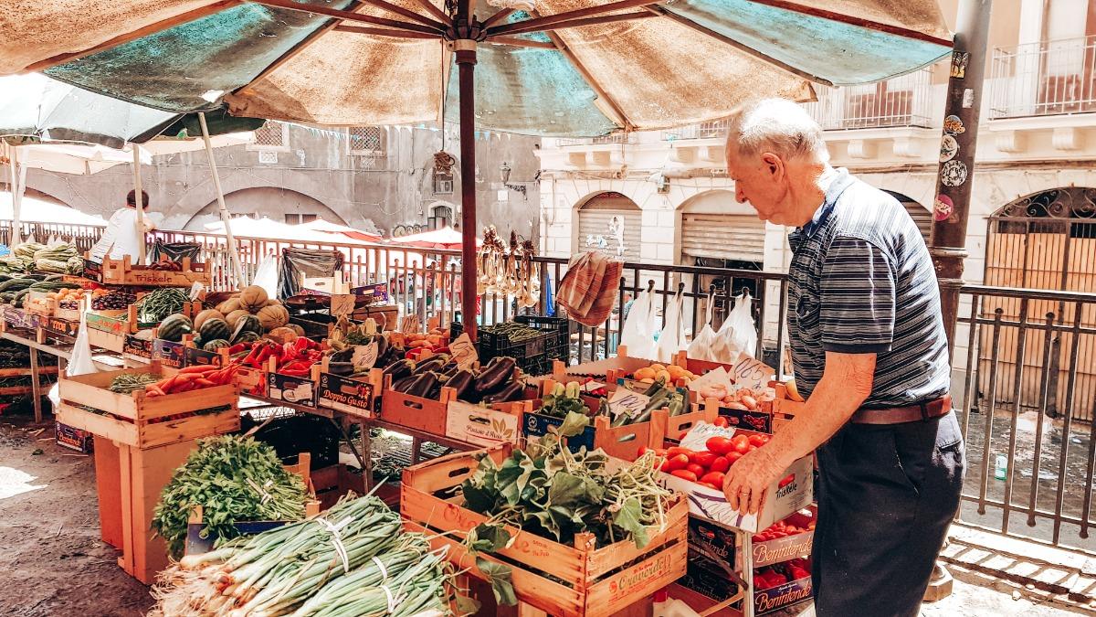 Sicilië Catania markt